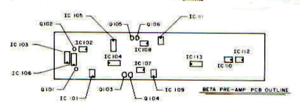 SUNN Beta-Lead pre amp chip layout